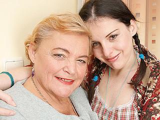 Horny juvenile legal age teenager pleases hawt grandma