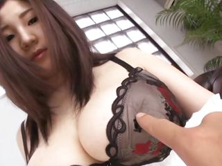 Nippon slut Sou let's me grope her huge soft breasts and doesn't oppose when I get a bit rough with them. She has a sexy body, perfect my hard cock and after I finished with her breasts she spreads those healthy thighs. Wondering what she has under her panties and how will she look with semen all over her body?