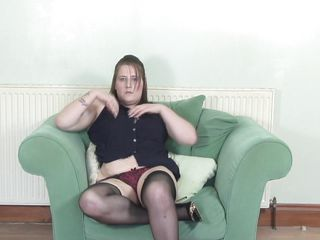 See this busty mature woman in a solo action of stripping and masturbation. She is not that good with the teasing but her big tits and busty body is amazing. She is slowly taking off all her clothes one by one and playing with her breasts, clitoris and pussy. Looks like she could use a dildo right now.