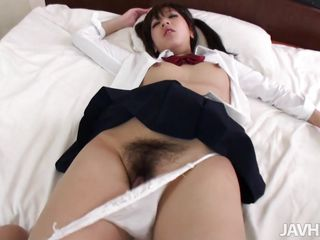 Tall cute and with a sexy ass Mao is my favorite school girl. We were in the bathroom one day and as she was showering I groped that beautiful wet booty until she turned to my and started to suck my cock. Mao wrapped her sensual lips around my penis and then we went the the bedroom were I fucked her pussy hard
