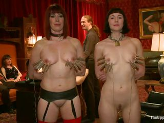 These sluts weren't always so obedient and well behaved. it took a lot of punishment and fucking to make them be like how they are now. Although the whores are now submissive sex slaves they still need to be reminded how things work and some deep fucking from behind solves that problem. Now sit back, relax and enjoy!