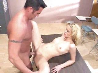 Slut in classroom has anal with teacher