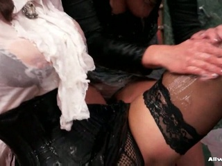 Two horny lesbians getting nasty with greasy gel