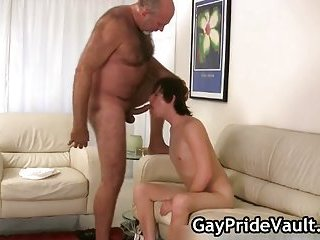 Horny gay bear fucking and sucking