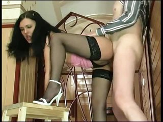 Young hottie and daddy have a fun fuck