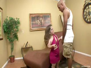Midget Mini Mya gets a big black cock