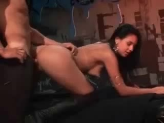 Club girl in boots fucked by a big cock